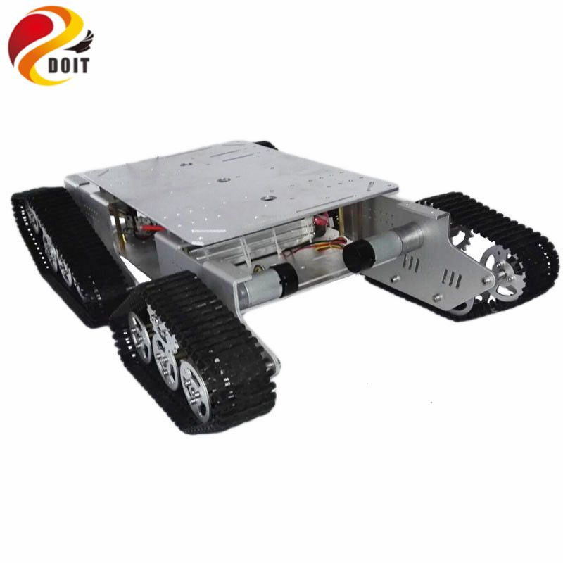 Original DOIT Caeser TD900 4WD robot Tracked Metal Tank Car Chassis Smart Robot Toy Robotic Competiton clawler caterpillar toy