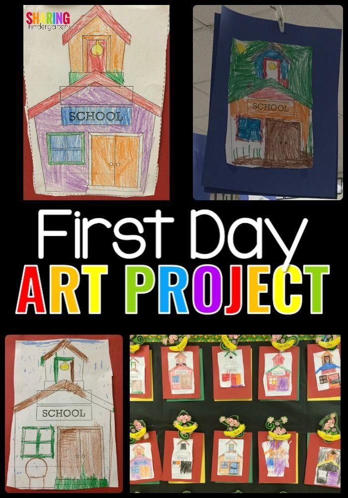 Simple First Day of Kindergarten Art Project {Freebie ...