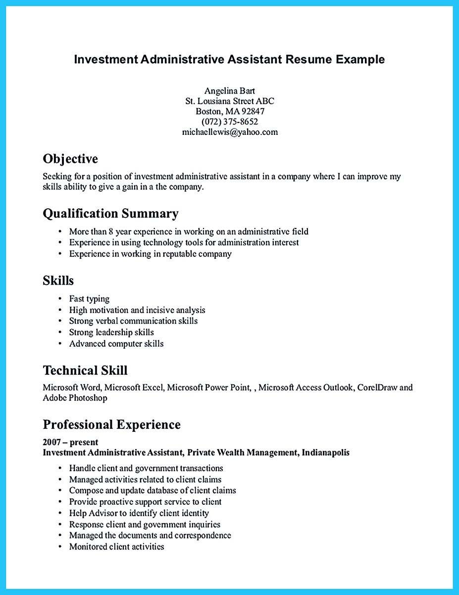 Best Administrative Assistant Resume Sample To Get Job Soon  How