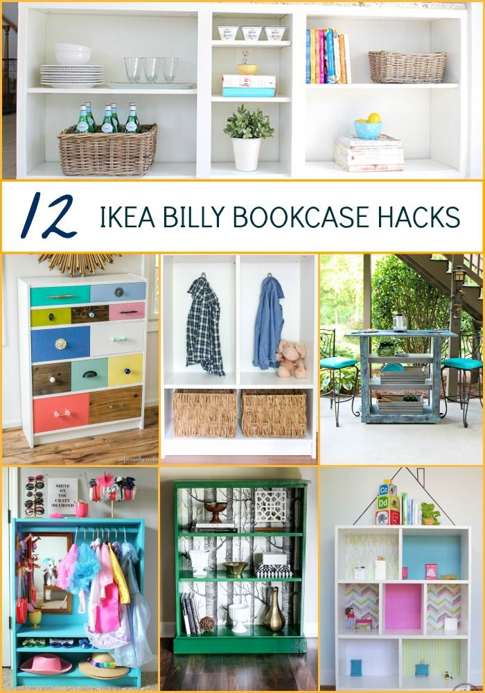 Love Ikea hacks? Take the basic Billy bookcase and transform it with one of these great ikea hacks - all with simple DIY skills for any level.