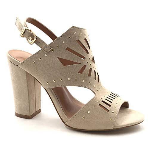 Chaussures Talon Femme Plateforme Peep Toes Sandales de Ville Daim Compensee Mode Chic Western Pointu Boots /Ét/é Respirant 6cm Rouge Noir Gris 34-43