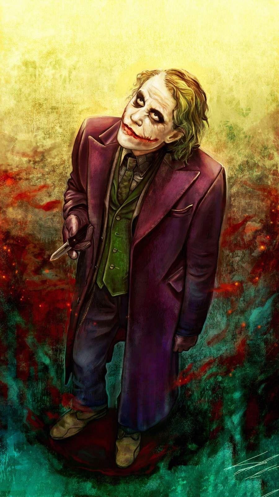 Joker Heath Ledger Art Iphone Wallpaper Joker Heath Joker Wallpapers Joker Art