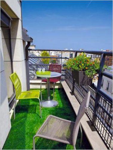 Am nagement d co pour petit balcon m me troit gazon for Mobilier jardin truffaut