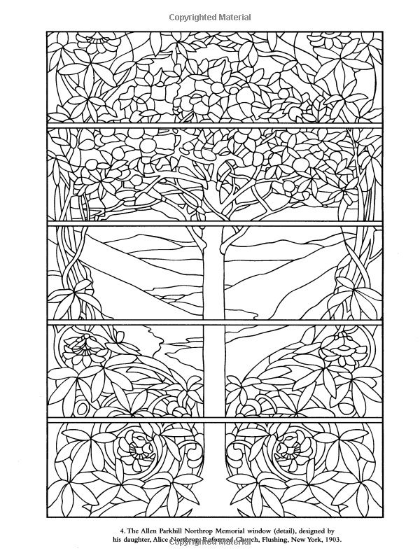 Dover Coloring Book Color Your Own Tiffany Windows Paintings