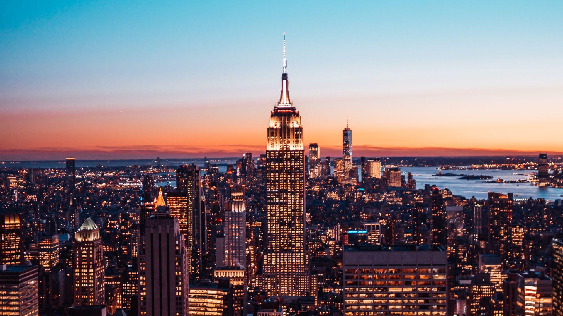 1920x1080 New York Cityscape Buildings Wallpaper In 2020 Cityscape New York Cityscape Building
