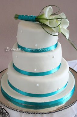 Calla Lily Cake Topper On A Wedding