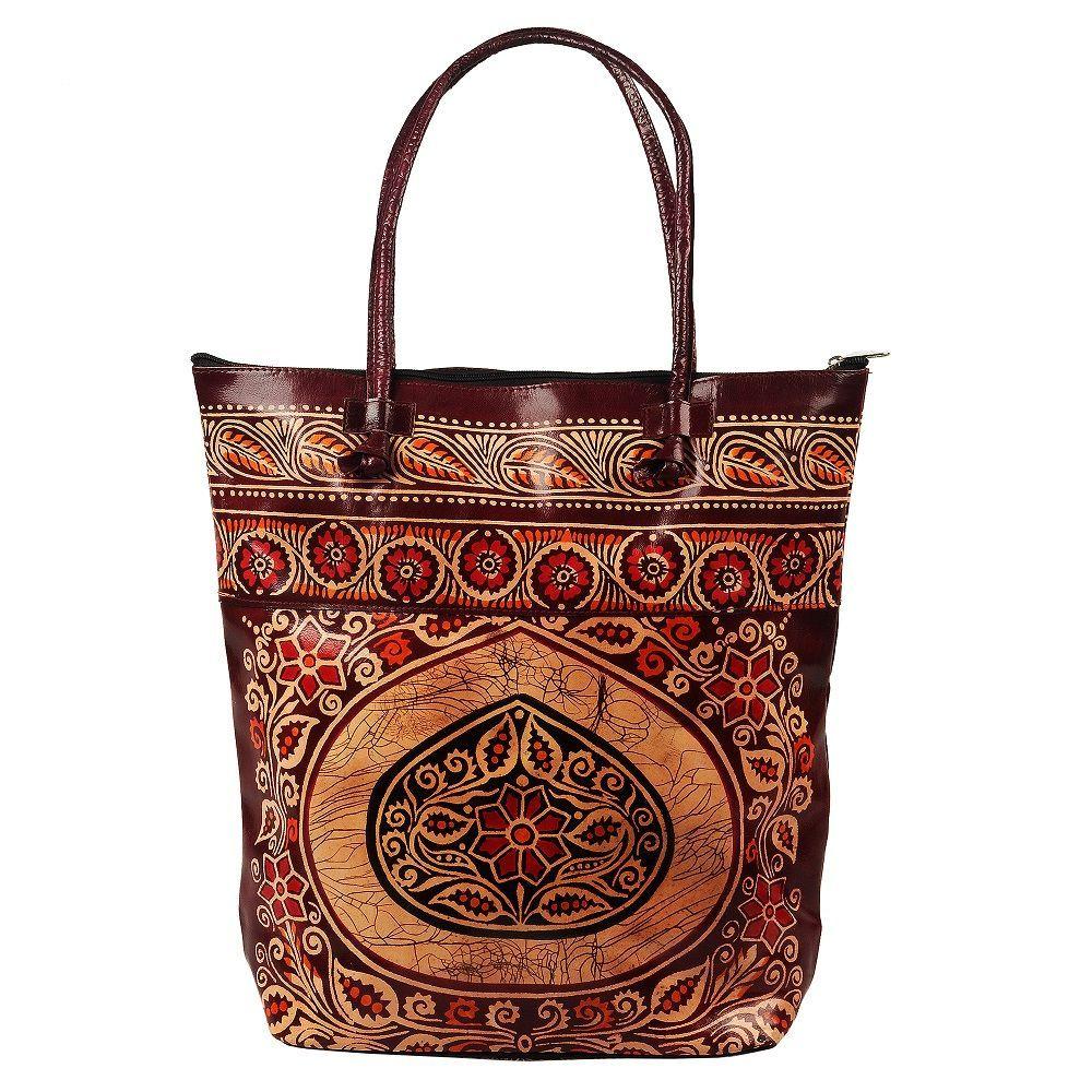 This Batik design Indian Shantiniketan Large Women's Tote