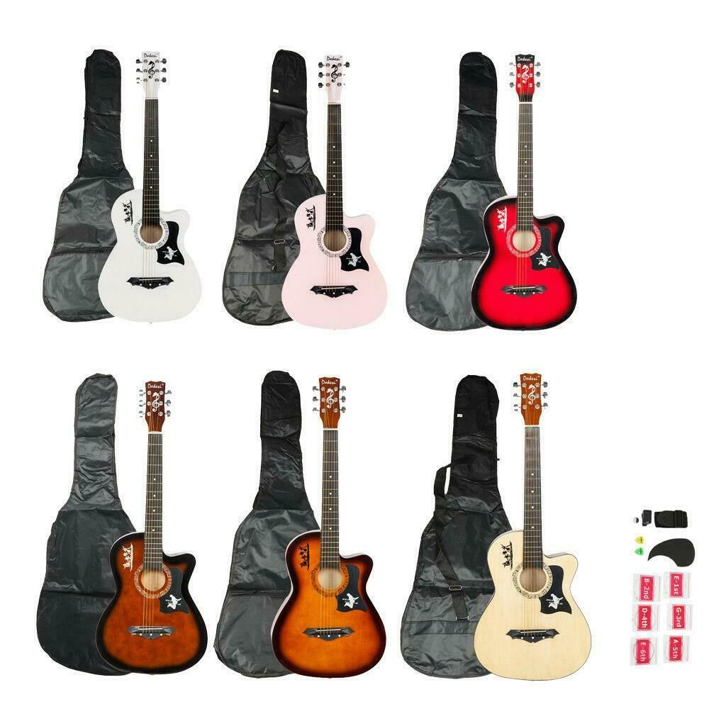 Details About New Brand Dakesi Right Handed Acoustic Cutaway Guitar With Bag Accessories In 2020 Acoustic Guitar For Sale Acoustic Guitar Kids Acoustic Guitar