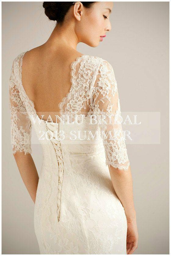 Lace wedding dress Bridal dress bridal gownBAILEA by WanluBridal