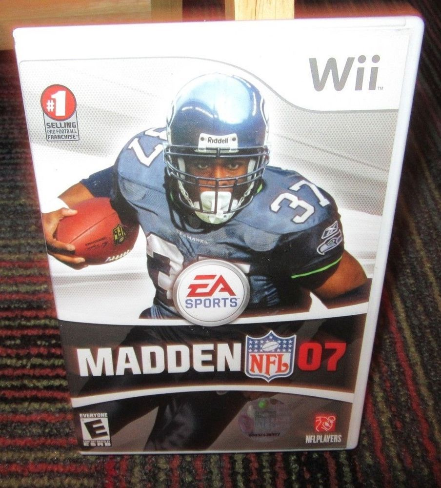 Madden Nfl 07 Game For Nintendo Wii Case Game Disc Manual Ea Sports Football Madden Nfl Wii Nfl