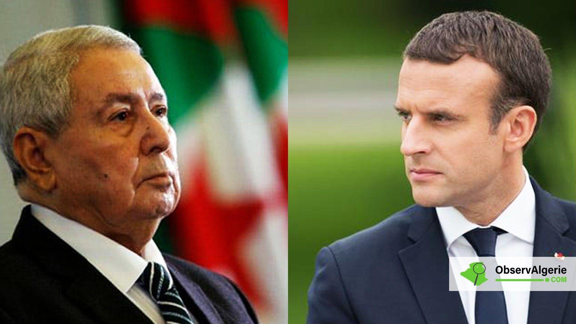 Abdelkader Bensalah a rencontré Emmanuel Macron Algérie