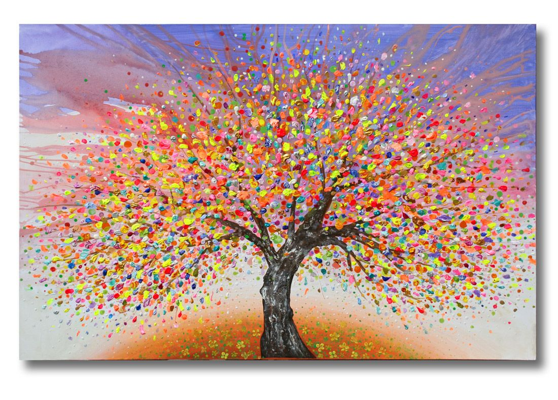 Julia Sadeh Tree Of Life A Huge 60x40inch Canvas See More