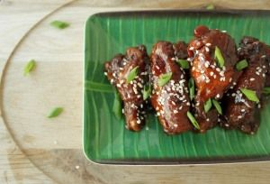 Sweet and Spicy, Slow Cooker Wings