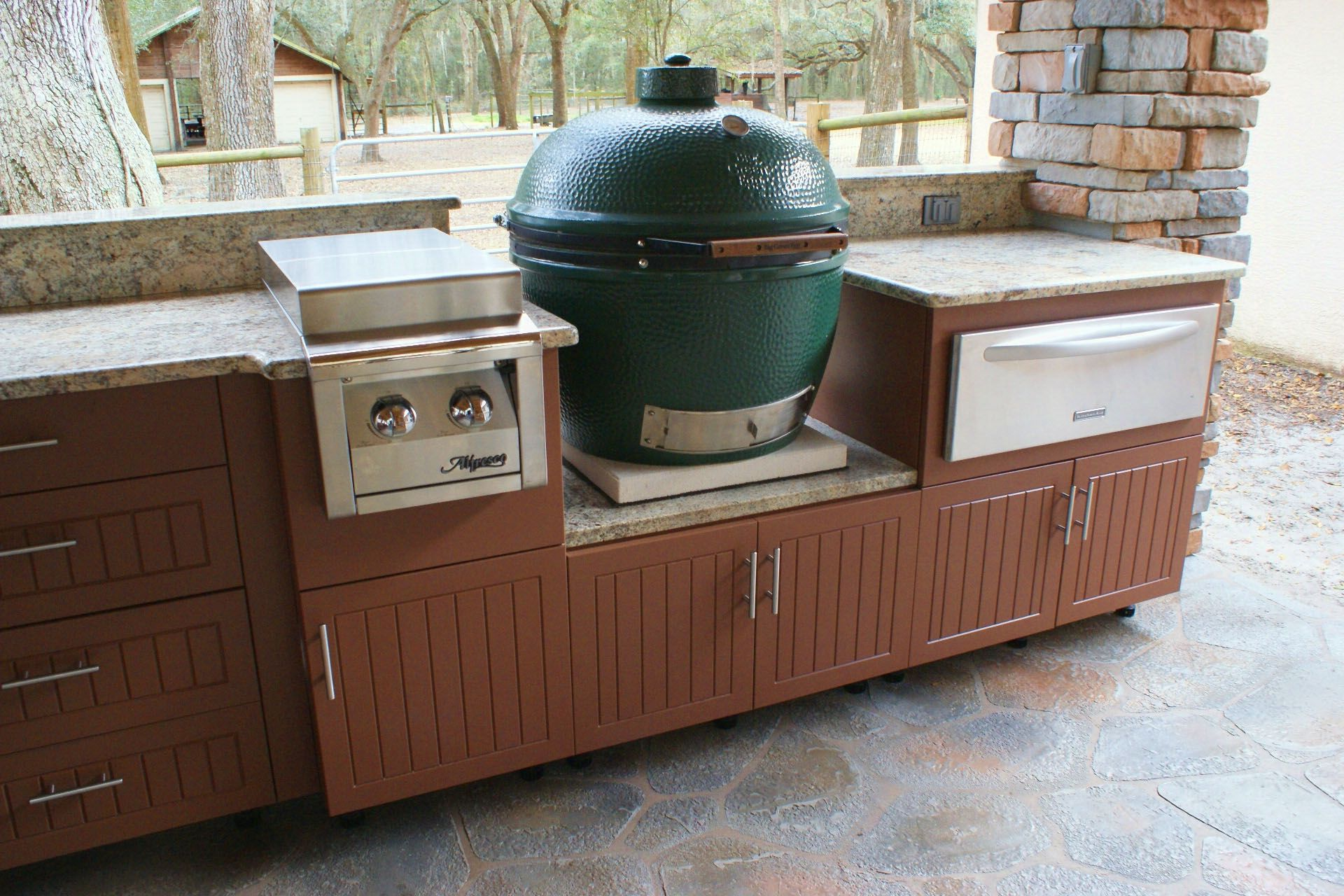 Big Green Egg Cabinets Soleic Outdoor Kitchens With Regard To Outdoor Kitchen Big Outdoor Kitchen Cabinets Inexpensive Kitchen Cabinets Modern Outdoor Kitchen