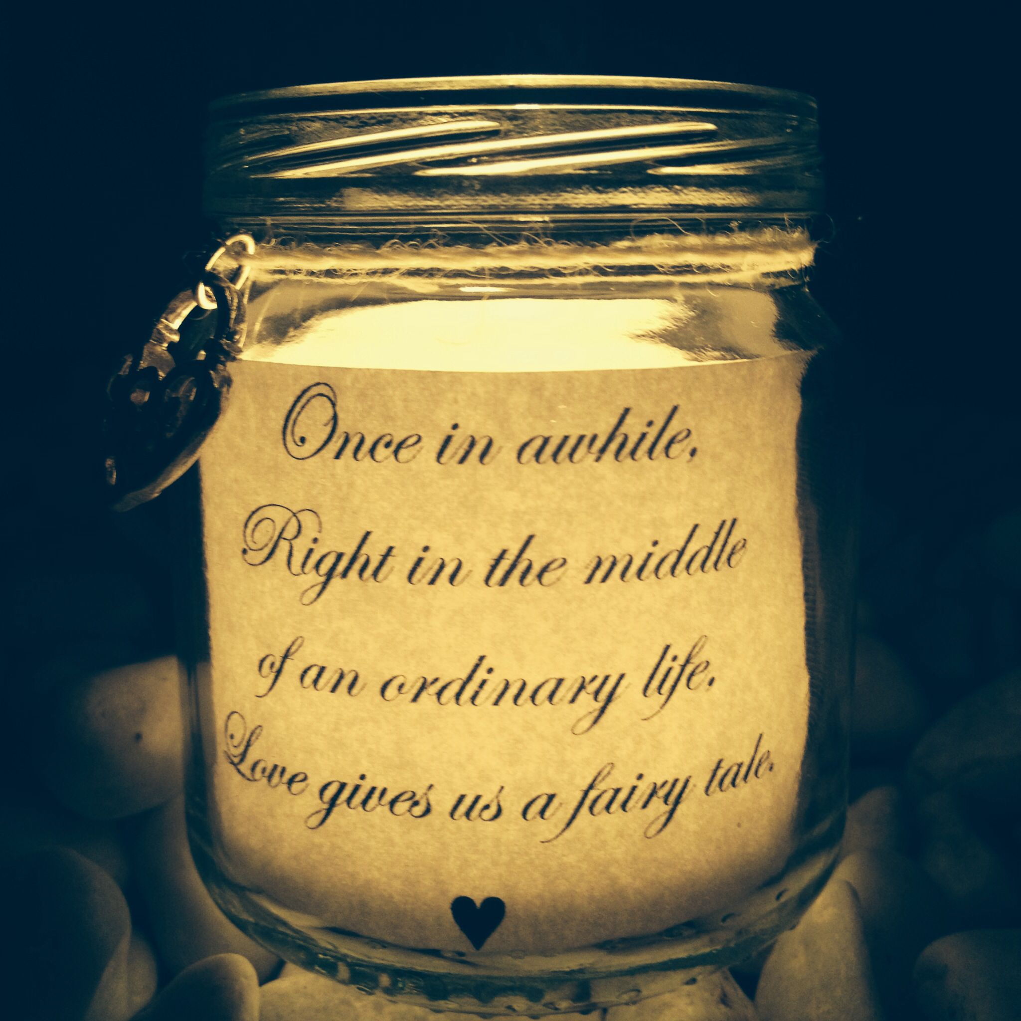 Wedding mason jars with love quotes for flameless tea lights made centerpieces wedding mason jars with love quotes junglespirit Image collections