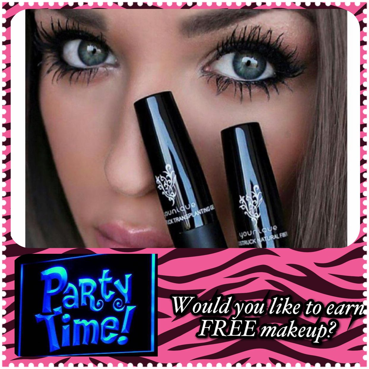 Would you like to earn FREE and 1/2 off makeup?  It's SUPER easy and all online, you don't even have to clean your house.  Contact me at jensgorgeouslashes.com and we will get your party started!