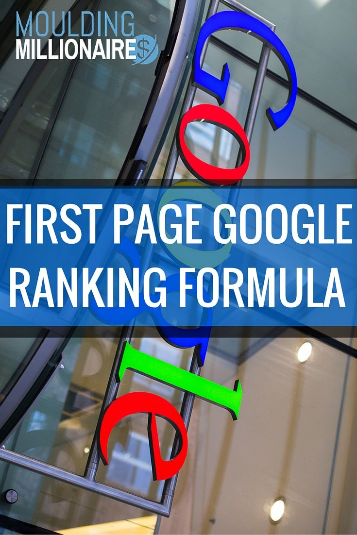 Free Google SEO Ranking Formula. Get Yourself on the first page of Google in 5 months...