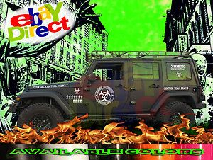 Funny, Large ZOMBIE RESPONSE Vehicle Stickers Decal 4x4