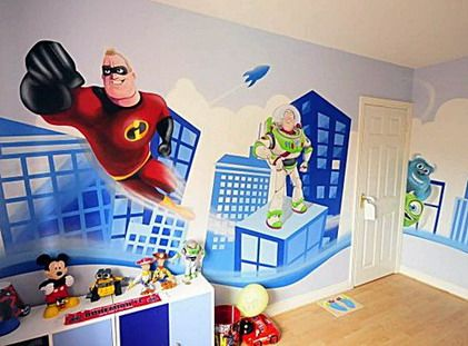Cute Toy Story Cartoon Wall Murals Stickers For Modern Kids Bedroom Paint  Decorating Designs Ideas Beautiful And Funny Wall Murals Painting .
