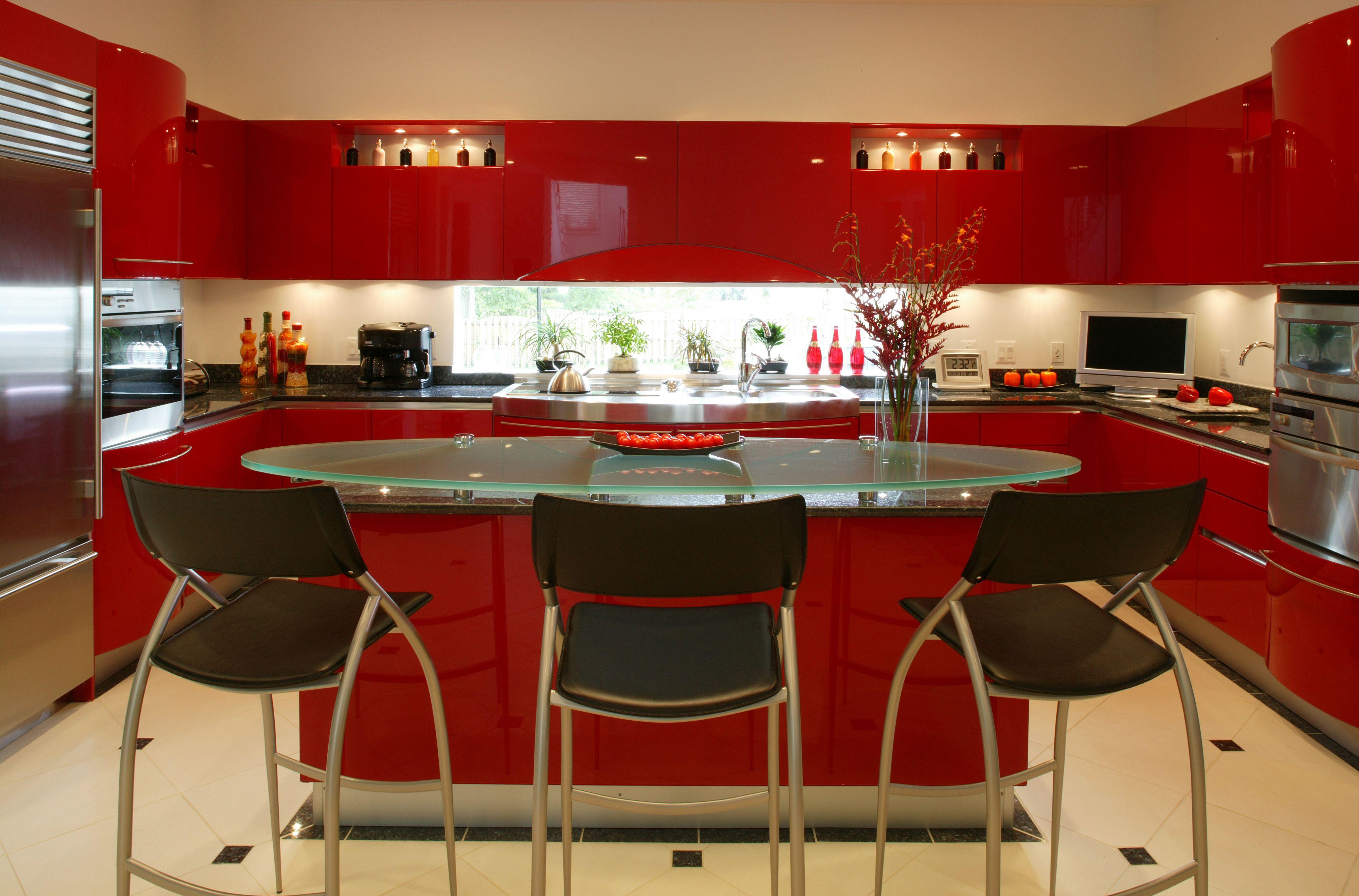 Alexandria Va Red Kitchen Cabinets Kitchen Interior Kitchen Cabinet Design