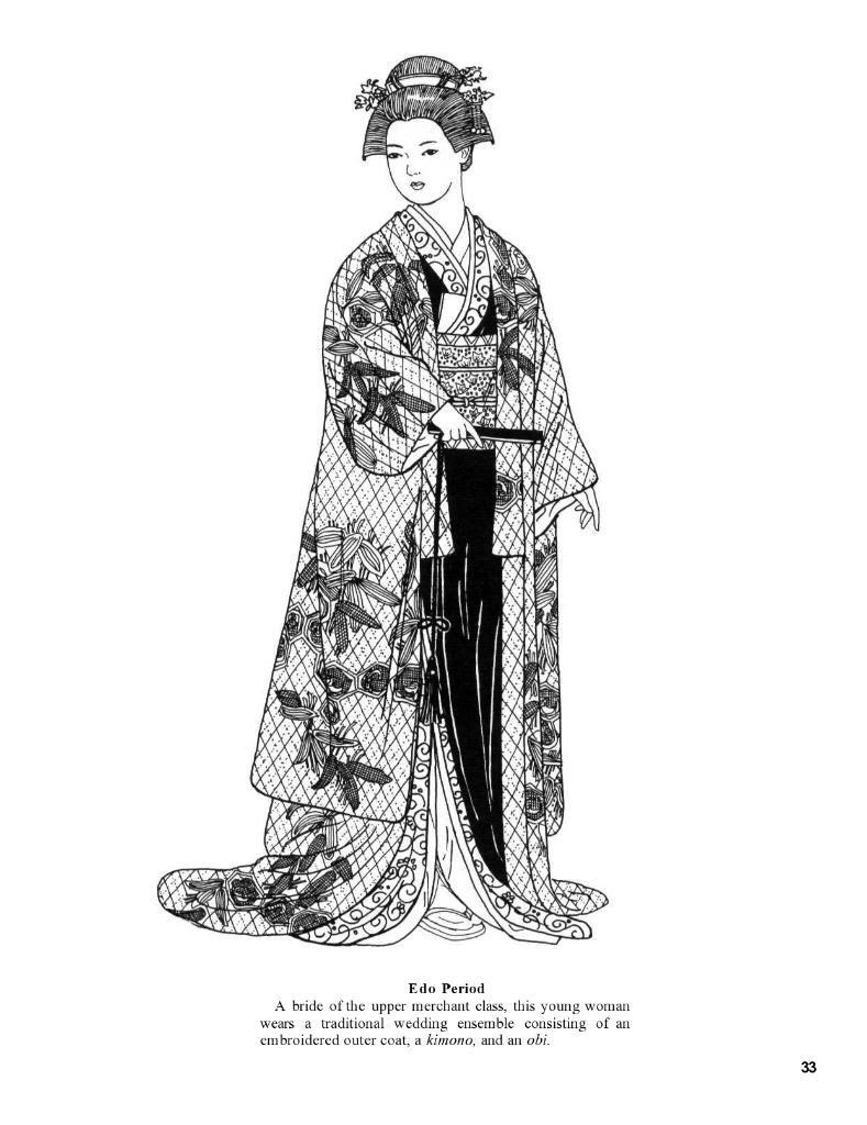 Japanese Fashions By Ming Ju Sun Dover Gueixa Desenho Roupa Japonesa Desenhos Japoneses