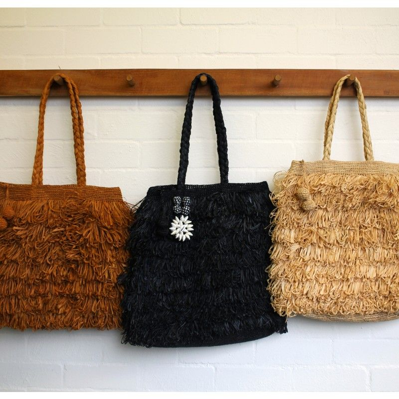 Raffia Bag Black