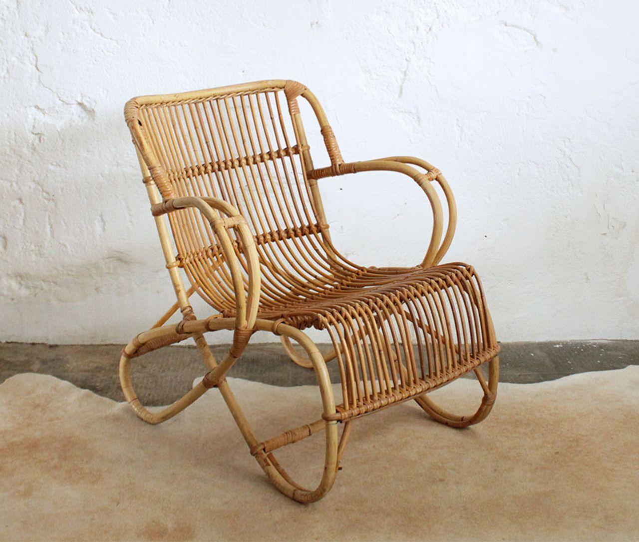 fauteuil rotin vintage via goodmoods - Fauteuil Rotin Vintage