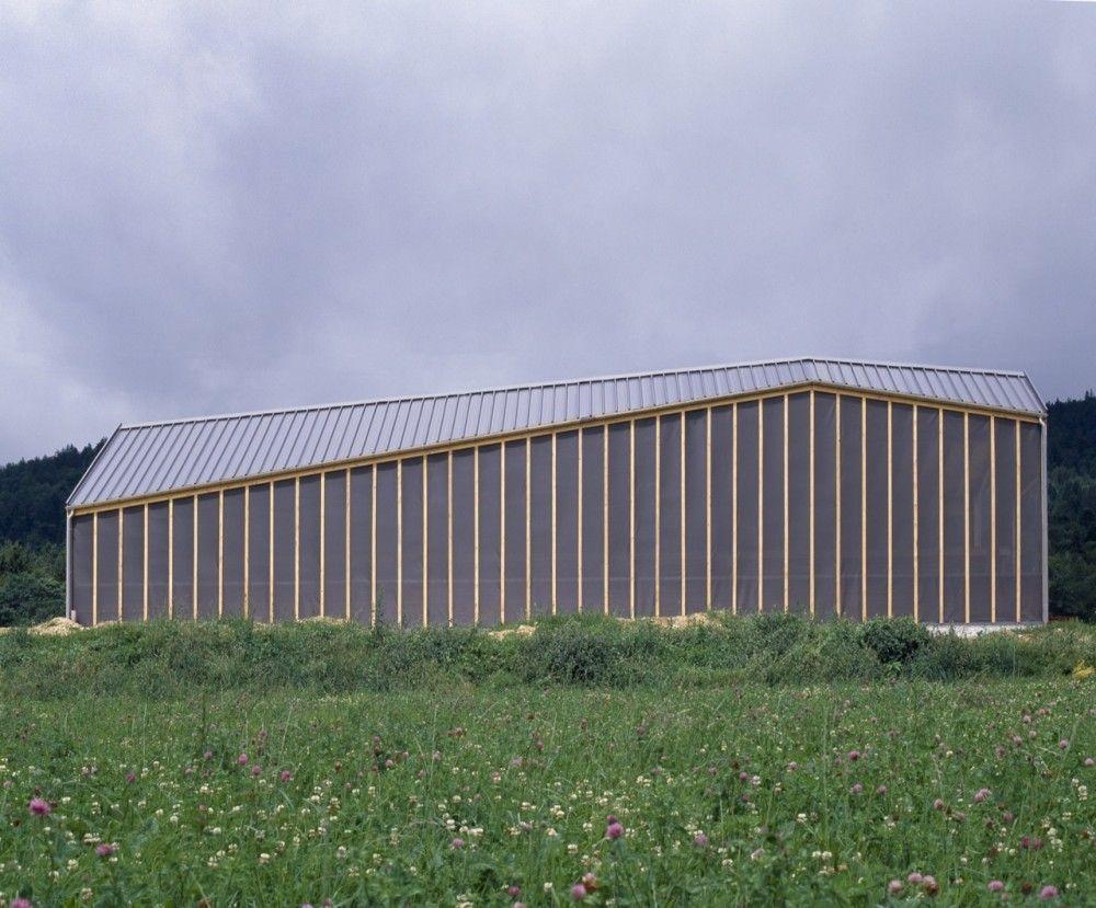 Etable De Stabulation Libre Localarchitecture Etable Hangar Agricole Architecture De Facade