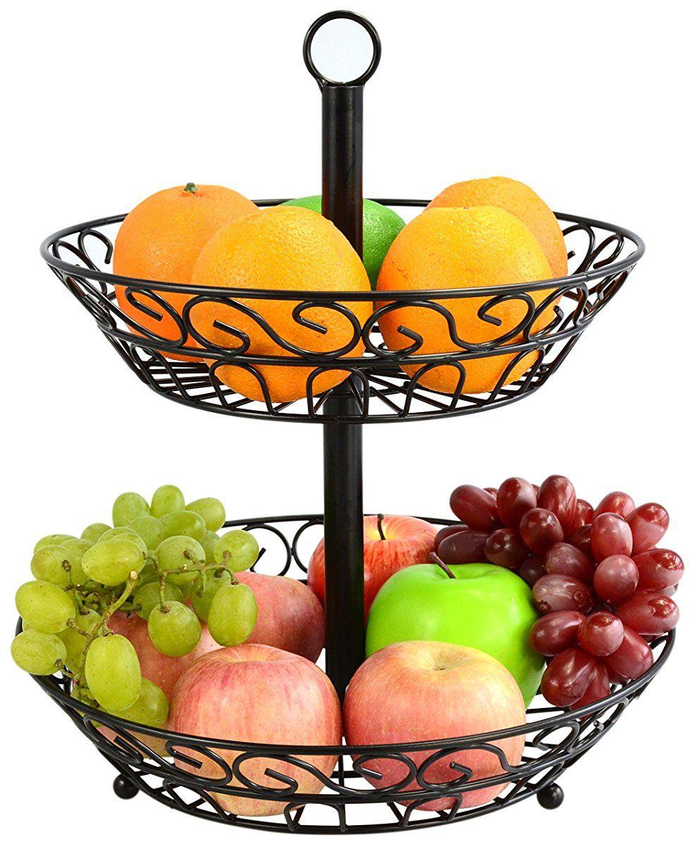 Surpahs 2 Tier Countertop Fruit Basket Stand Decoracao Cozinha