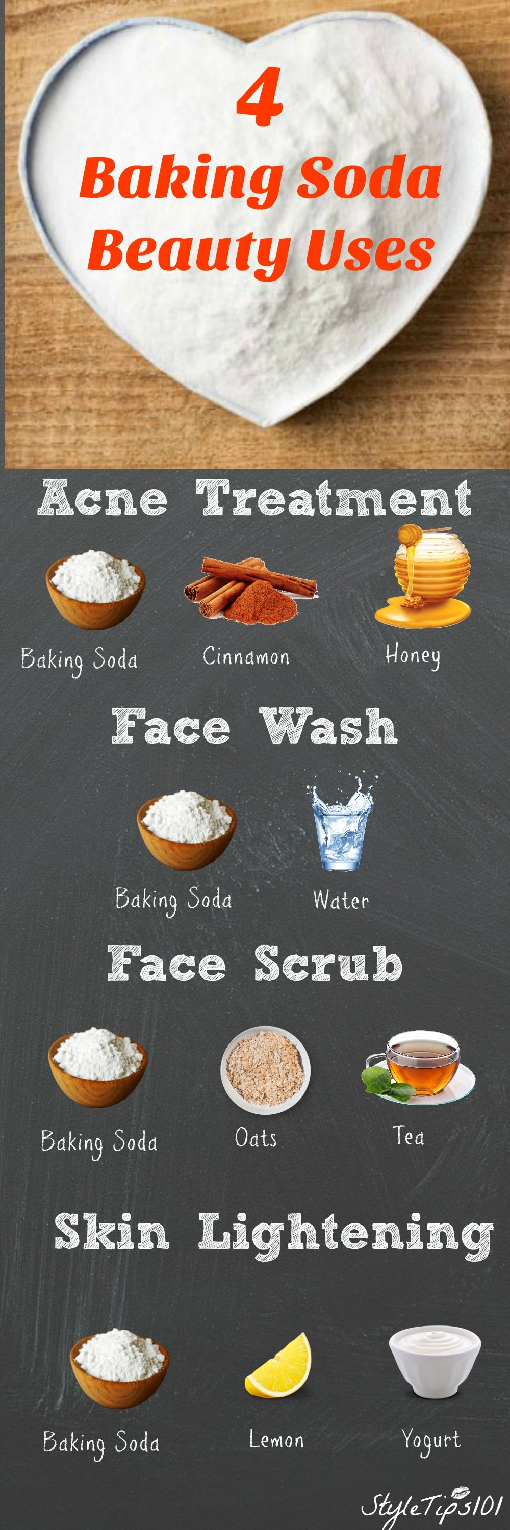 a powerful baking soda scrub for your every skin flaws recipe