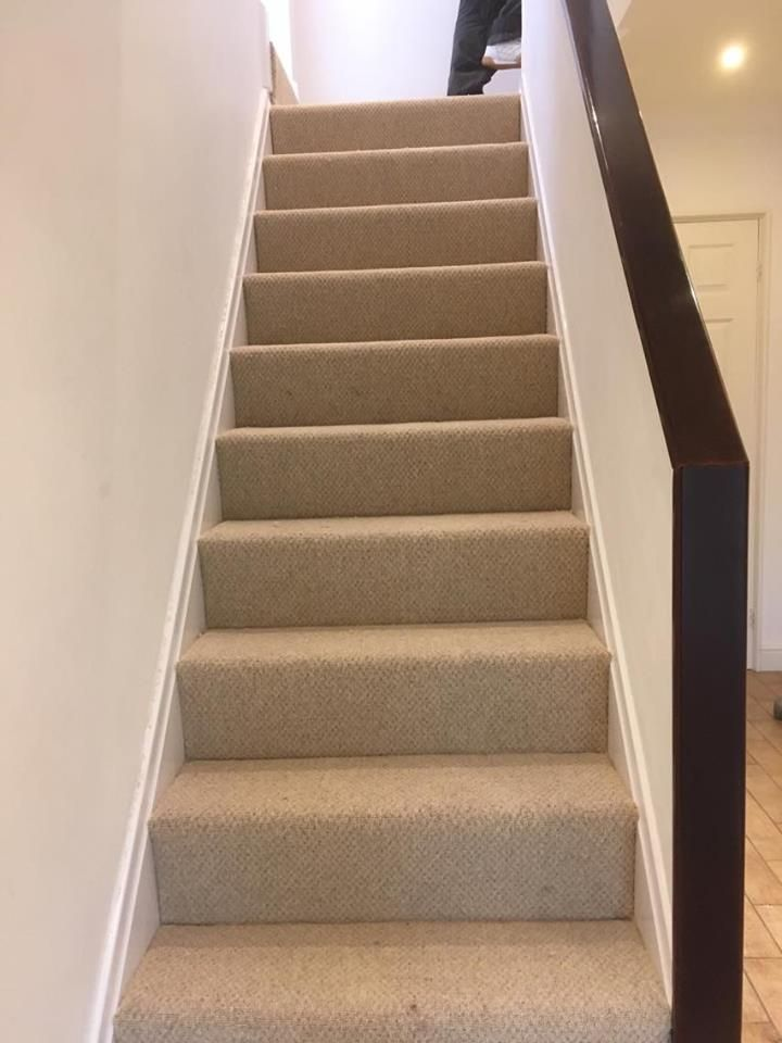 Best Contemporary Look Wool Mix Loop Carpet Perfect For Stairs 400 x 300