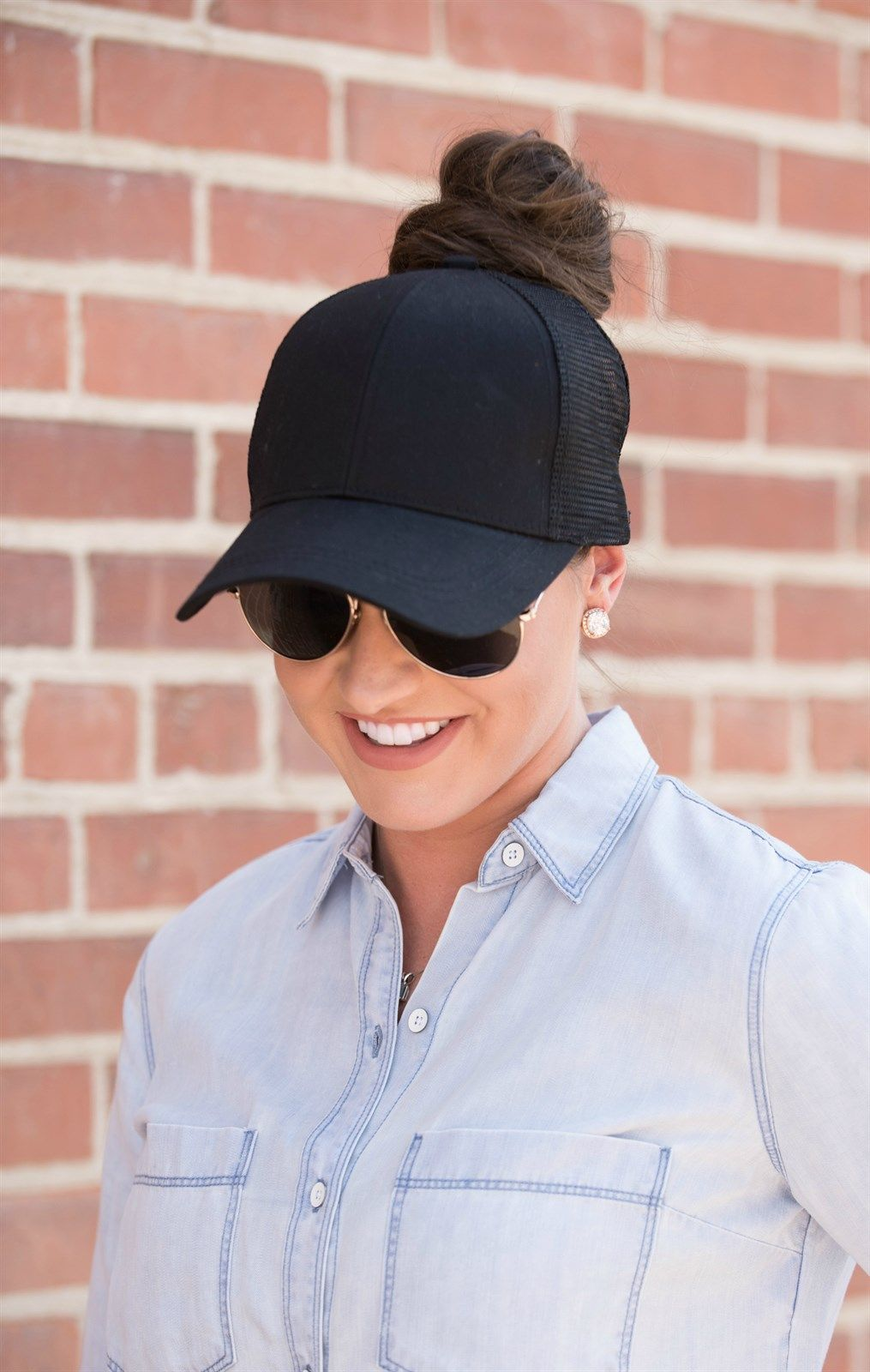 Our C.C brand top knot trucker hats have all the function of a regular ball  cap 87f7c7871cc