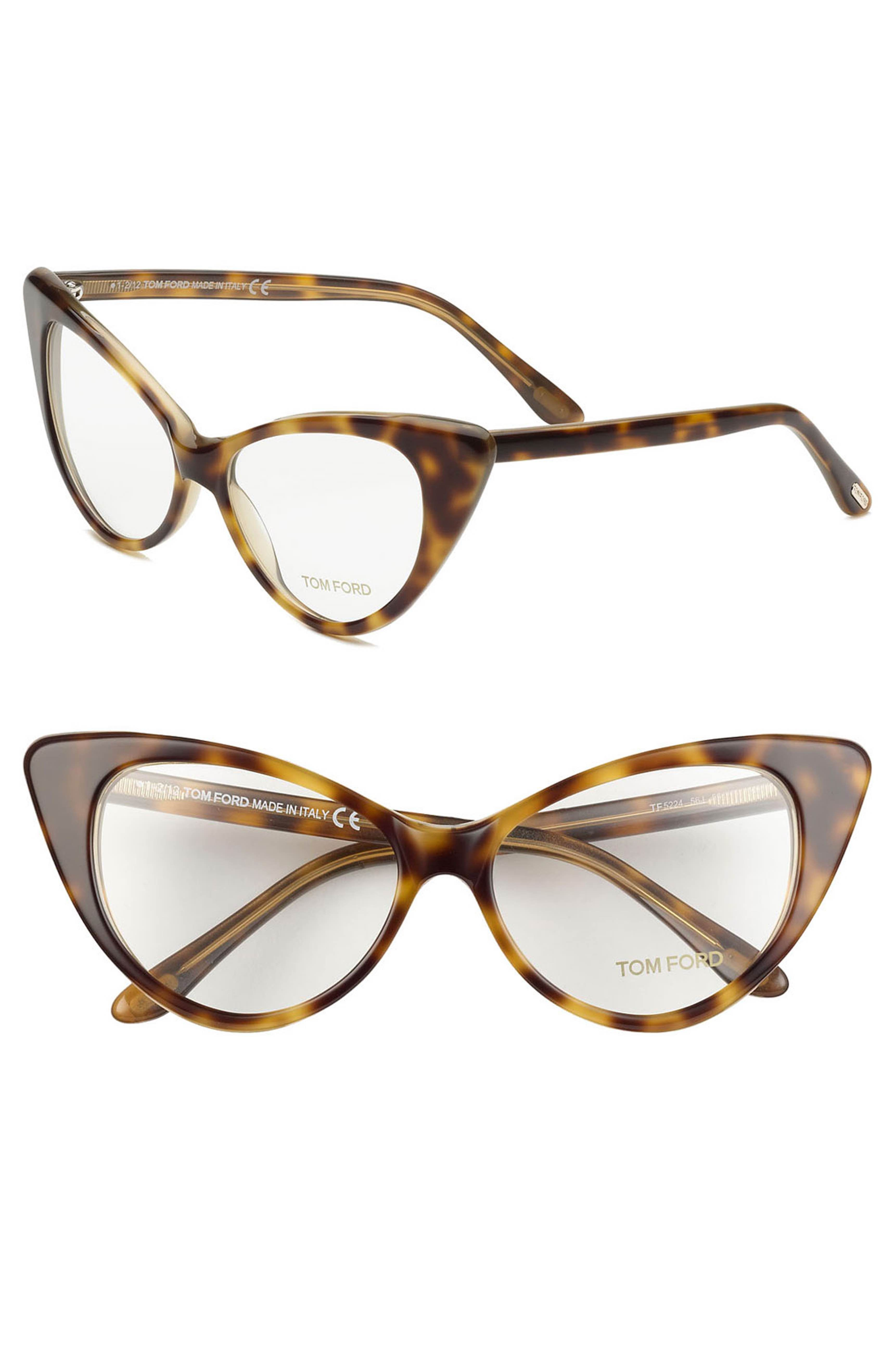 1deb26b3748b3 Main Image - Tom Ford Cat s Eye 55mm Optical Glasses (Online Only ...