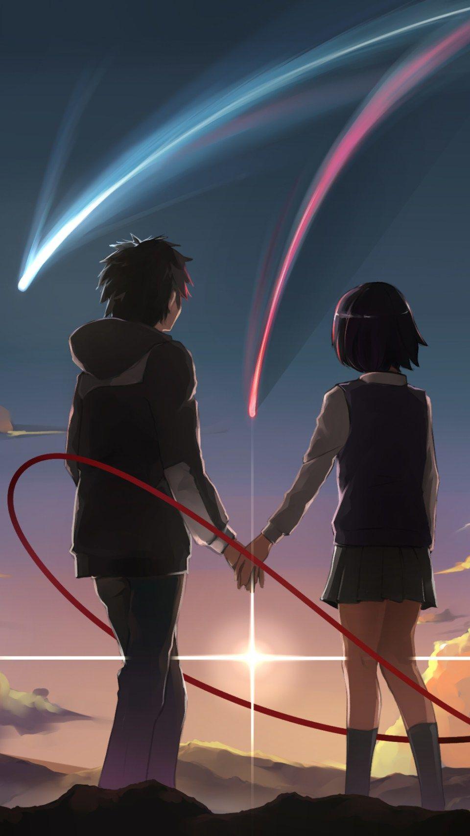 Your Name Fotografi Remaja Pasangan Animasi Komik Romantis