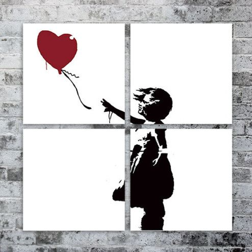"""Love Balloon"" – Silk Screen Print"
