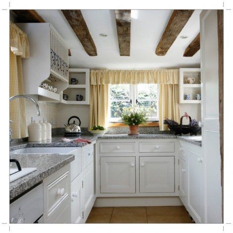 The kitchen #whitegalleykitchens
