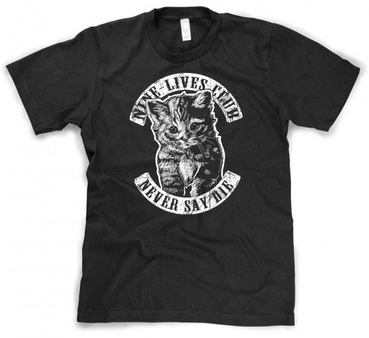 9 Nine Lives Cat Club Shirt
