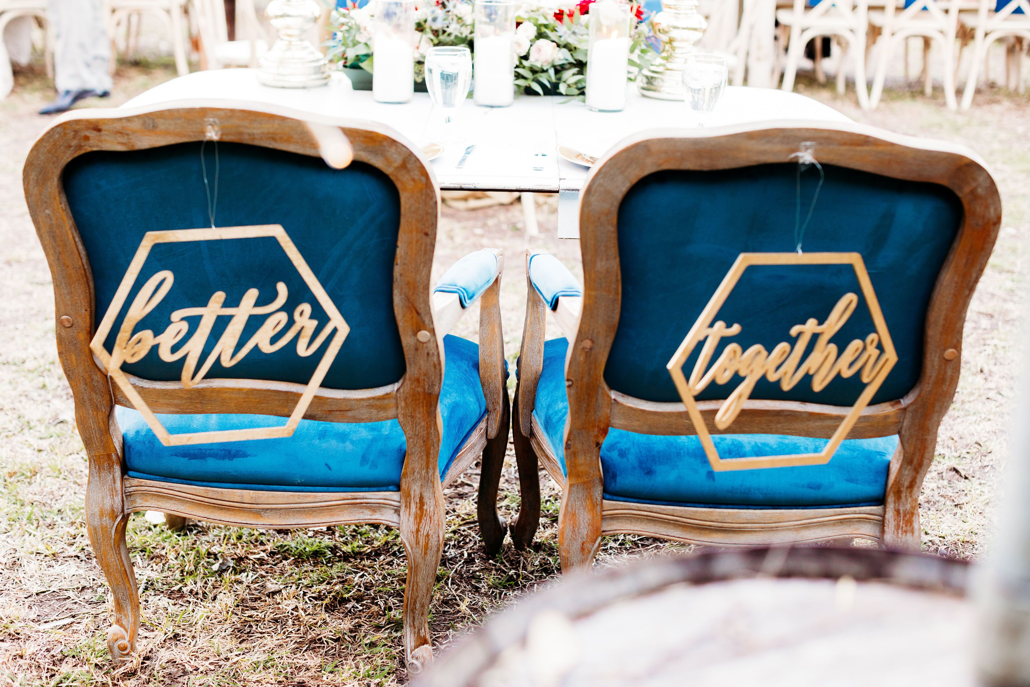 These chairs for the sweetheart table are