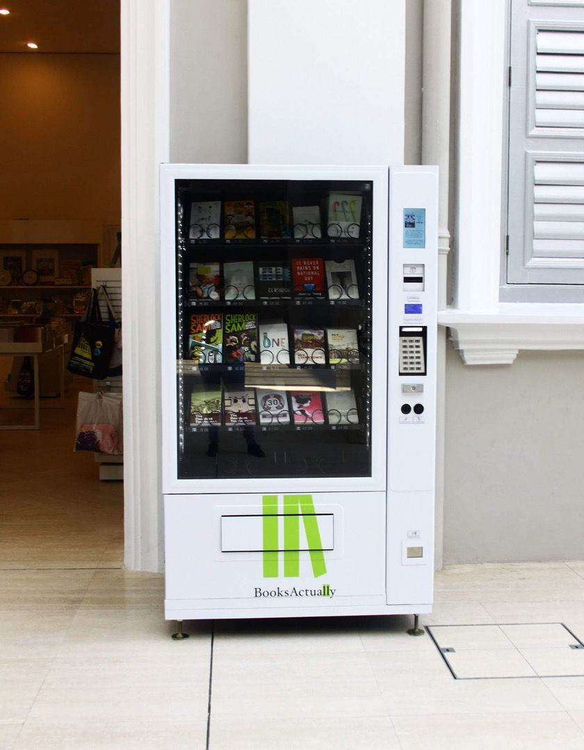 Gorgeous Book Vending Machines Rolled Out In Singapore Pictures Vending Machine Design Vending Machine Vending Machines In Japan