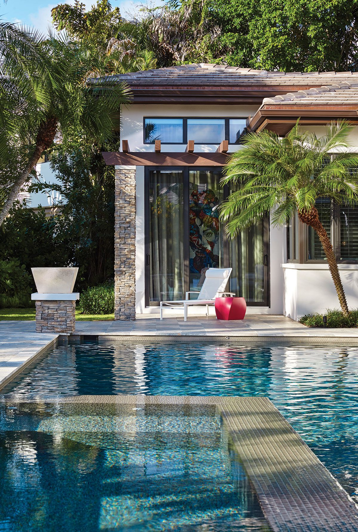 Putting Trust In A Team Pool houses, Florida design