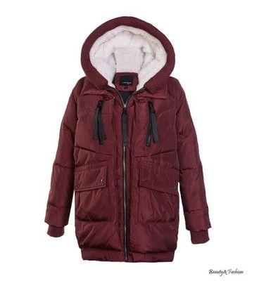 Miss Fofo Puchowa Ciepla Kurtka M 38 Bordowa 6575918353 Oficjalne Archiwum Allegro Jackets Winter Jackets Raincoat