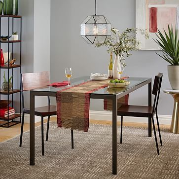 Box Frame Dining Table  48X30 Table Glasswhite  Apartments Inspiration Picture Frames For Dining Room Decorating Design