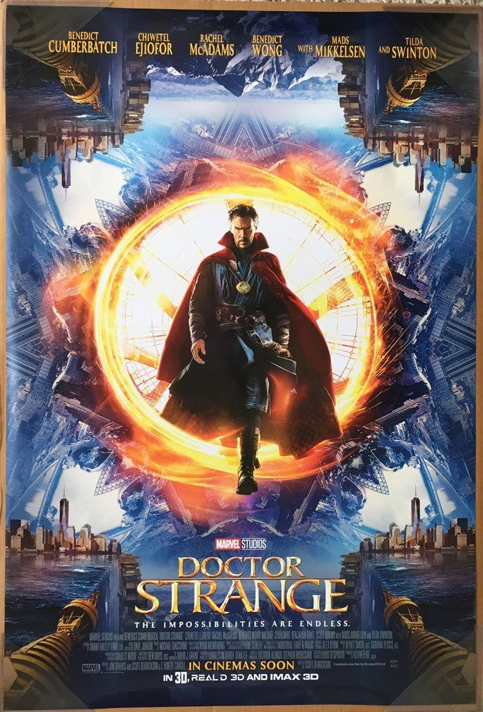 Doctor Strange Movie Poster 2 Sided Original Intl Final 27x40 Benedict Cumberbatch Posters Prints Marvel Doctor Strange Docteur Strange Film