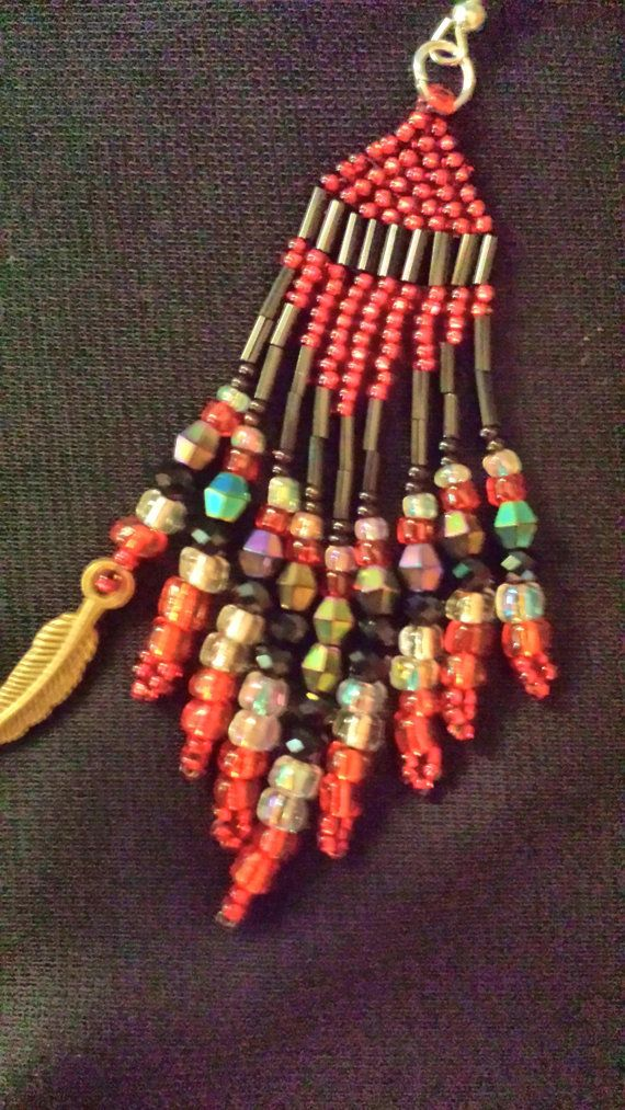 Hey, I found this really awesome Etsy listing at https://www.etsy.com/listing/185185342/native-american-inspired-red-earrings