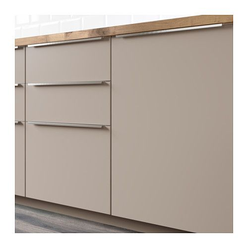 UBBALT Skuffefront, mørk beige Kitchens, Kitchen living and Wall - küche online planen ikea