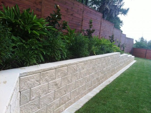 The Tasman retaining wall system is the premium retaining wall