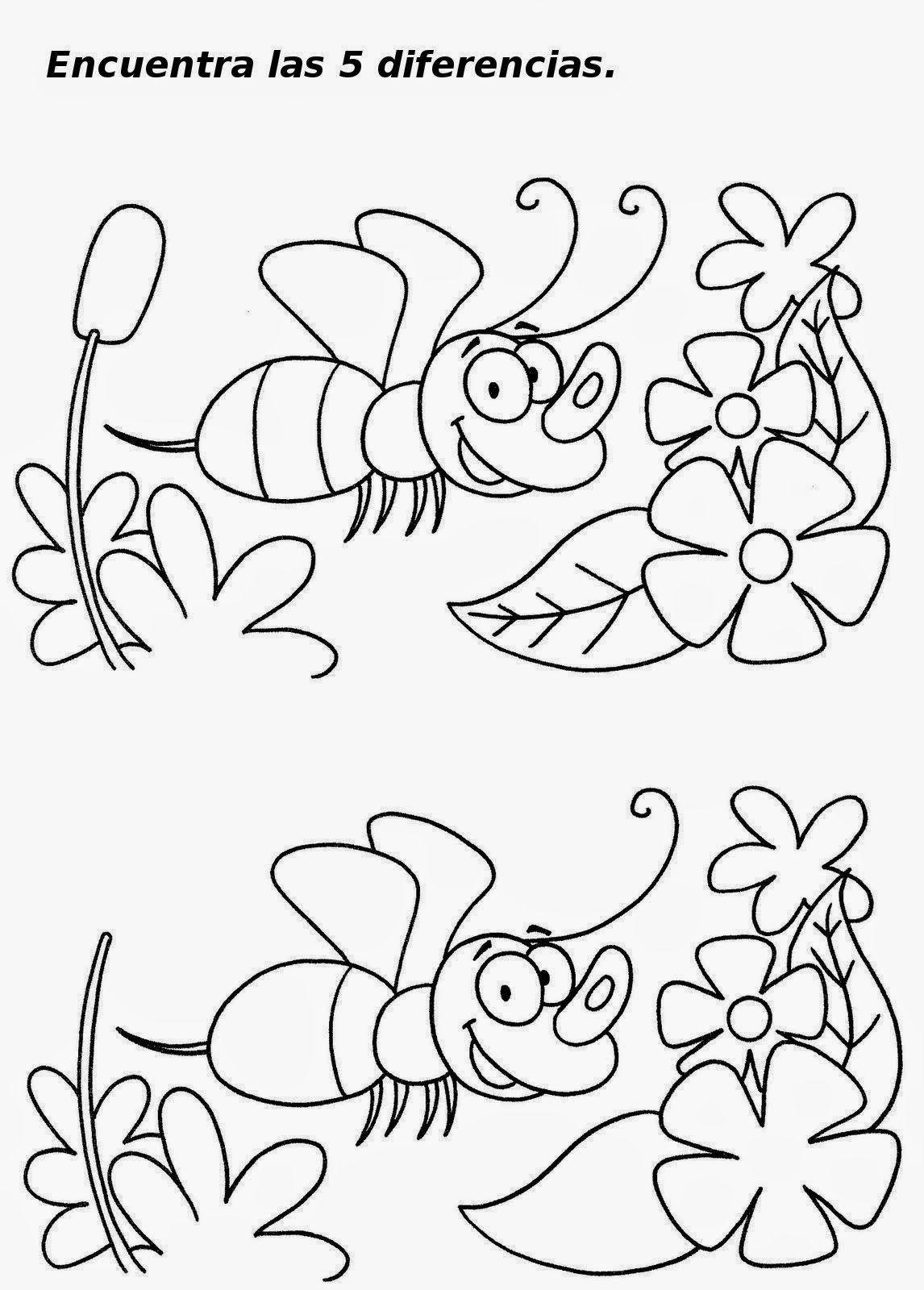 Comprueba Tu Capacidad De Atencion Y Busca Las Diferencias En Estos Dibujos Que Te Dejo Buscar Diferencias Fichas Juegos De Diferencias