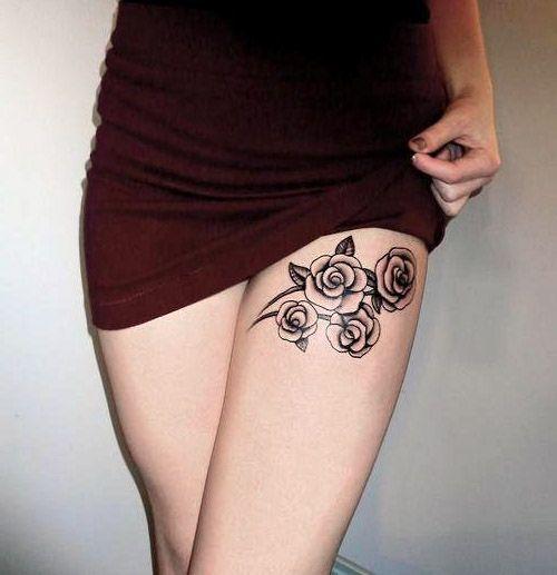 Tatuaze Damskie Delikatne Roze Cute Tattoos For Women Thigh Tattoos Women Thigh Tattoo