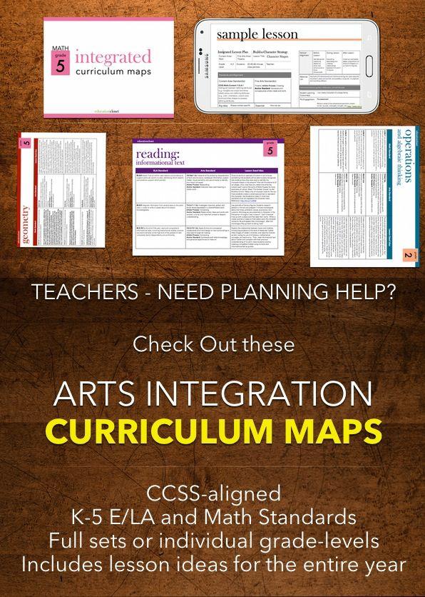 Curriculum maps | arts integration | STEAM | K-5 | K-5 lessons ...