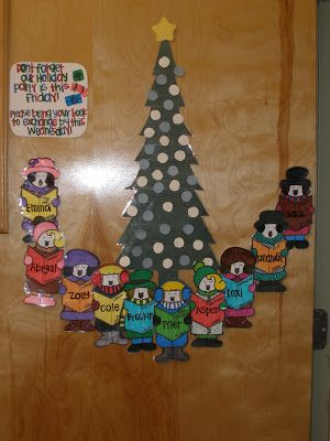 Holiday Door Christmas Carolers Teaching Is A